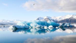 Representación del deshielo del ártico